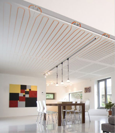 Photograph of Ceiling heating and cooling systems