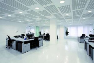 Office with Acoustic Ceiling panels