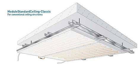 Deckenkühlung und -heizung Modul Standard Klassik