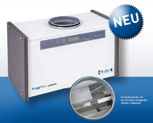Foto des PluggVoxx Luftaufbereitung Gerät