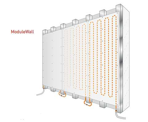 Wall heating and cooling module-illustration