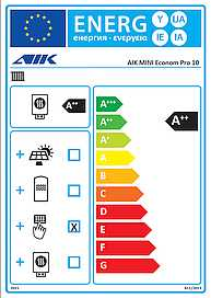 AIK MINI Econom Pro 10 Energy Label -2