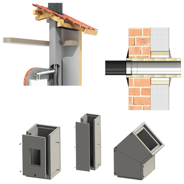 Lightweight Chimney Insert and Duct Modules