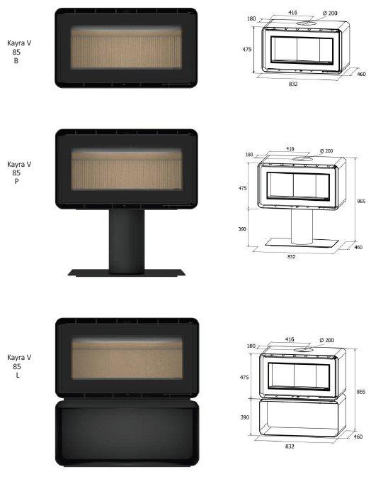 ADF Kayra V Series Dimensions