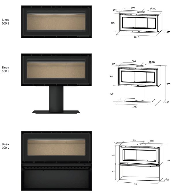 Linea 100 Series Dimensions