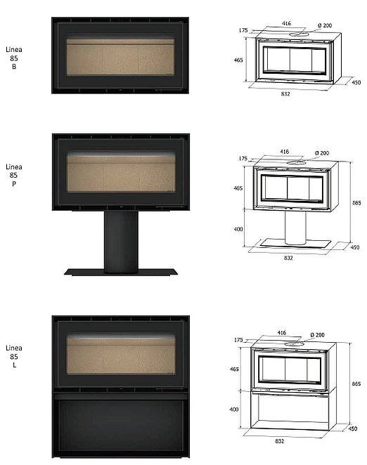 Linea 85 Series Dimensions