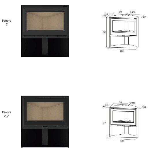 Panoras C series dimensions