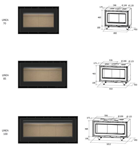 In-Wall Linea series dimensions