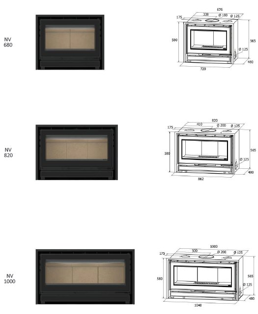 In-Wall ADF Nv Serie Dimensionen