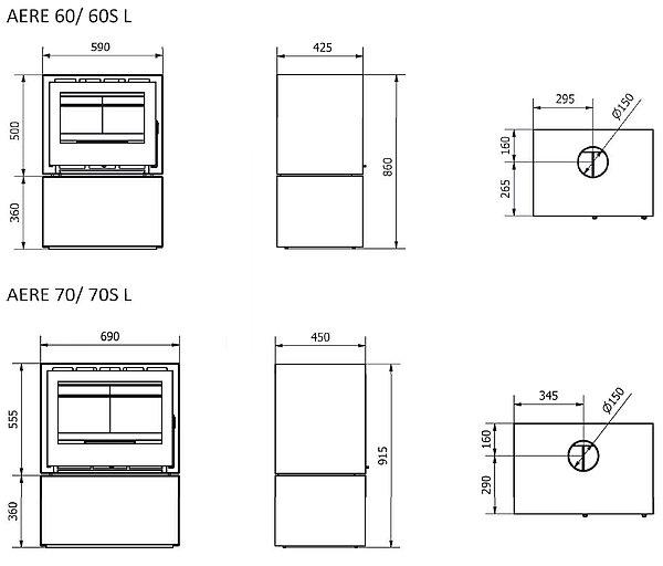 BOSQ Aere L Series dimensions