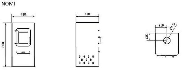 BOSQ Nomi model dimensions