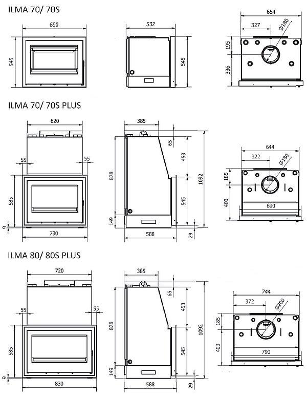 Ilma series dimensions