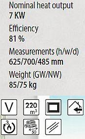 Denia In-Wand Model DF-70 Spezifikationen and Merkmale