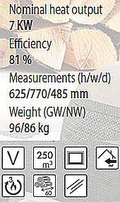 Denia DF-80 - Специфікація та характеристики