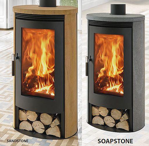 Denia Lambda Floor-standing fireplace / stove
