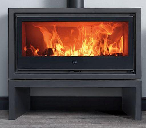Denia Panoramic Floor-standing fireplace / stove